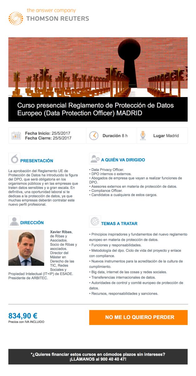 Curso RGPD Presencial Madrid